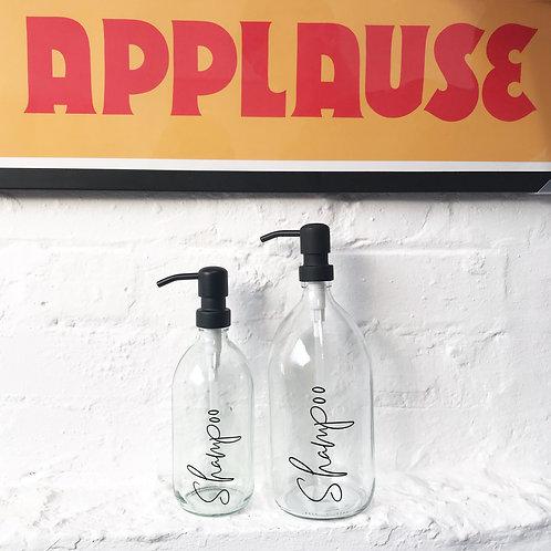 1L Clear Glass Pump Bottles