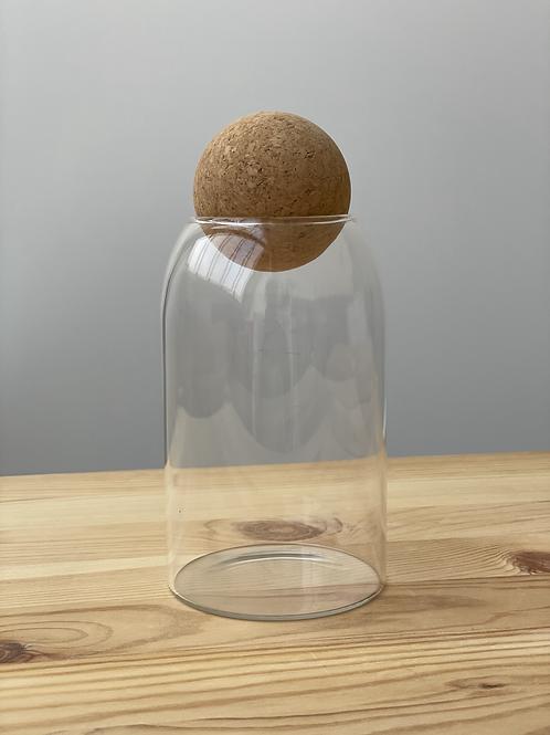 PLAIN 0.8L Cork Ball Jar - SEE PHOTOS FOR DEFECTS