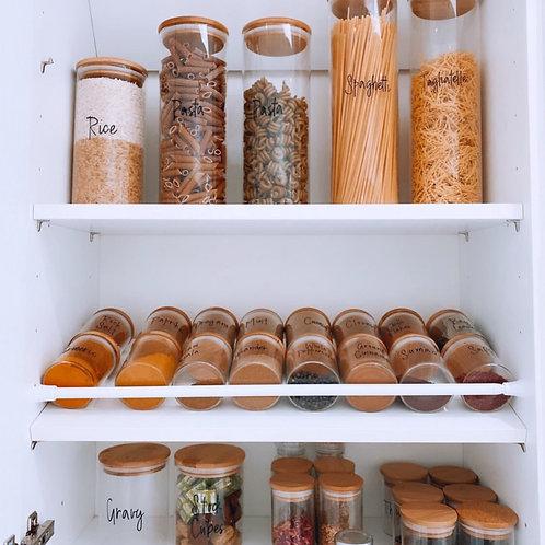 Bamboo Glass Storage Pantry Jars