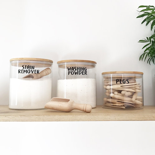 Wide mouth Bamboo Jars