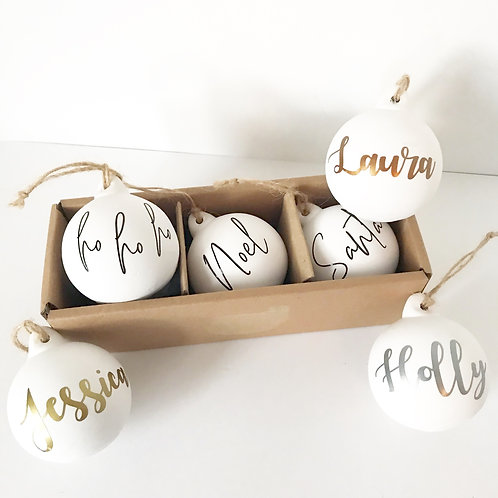Personalised Ceramic Christmas Baubles