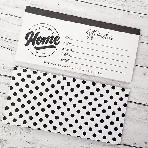 All Things Home Gift Voucher