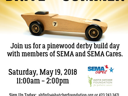 Austin Hatcher Foundation to Host 'Build Day' on May 19; Children To Prepare Pinewood Derby Cars for