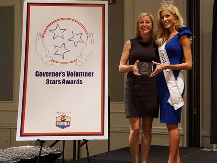 Austin Hatcher Foundation for Pediatric Cancer President, Amy Jo Osborn, Wins Governor's Volunteer S