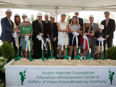 Austin Hatcher Foundation for Pediatric Cancer Broke Ground on New $3.2M Education Advancement Cente
