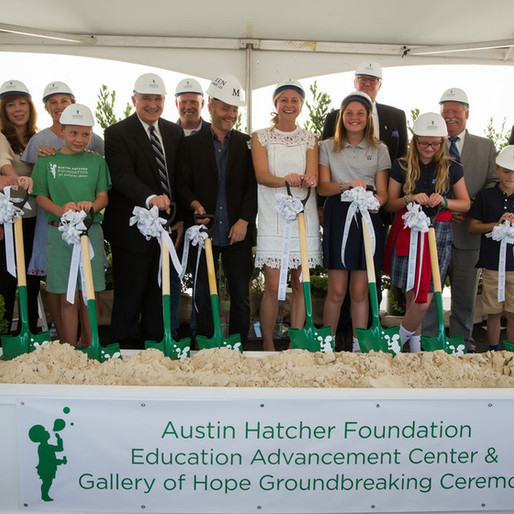 Austin Hatcher Foundation for Pediatric Cancer Broke Ground on New $3.2M Education Advancement Cente