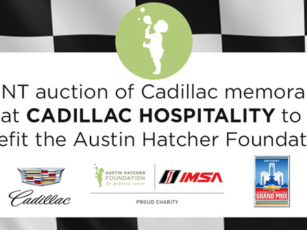 Motor City Fundraising: At-Track Auctions to Benefit Austin Hatcher Foundation  Scheduled for Chevro