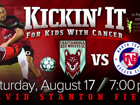 Austin Hatcher Foundation to Hold Kickin' It For Kids With Cancer Game in Partnership With Chattanoo