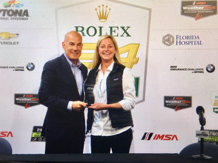 Austin Hatcher Foundation Presents Founder Club Member Award to IMSA