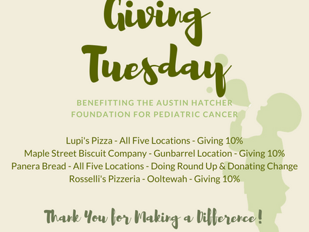 'GivingTuesday' To Benefit The Austin Hatcher Foundation for Pediatric Cancer, Via Regional Business