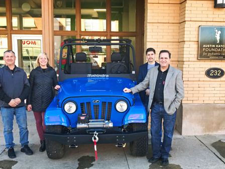 Work Begins On Newest Austin Hatcher Foundation Therapy Project, A Mahindra ROXOR Off-Road Vehicle