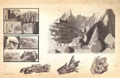 Futuristic sketches and studies