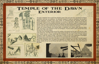 Mayan Adventure Land.Time Tours.Temple Exterior Development