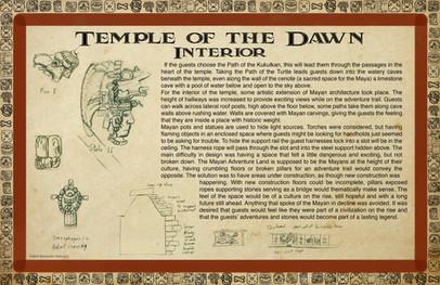 Mayan Adventure Land.Time Tours.Temple Interior Development
