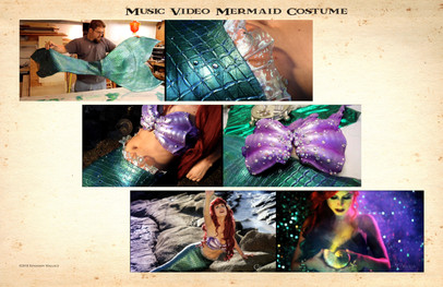 Mermaid tail paint and bra construction