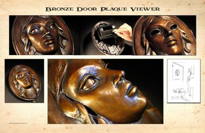 Look through door plaque