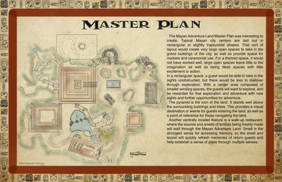 Mayan Adventure Land.Time Tours.Master Plan