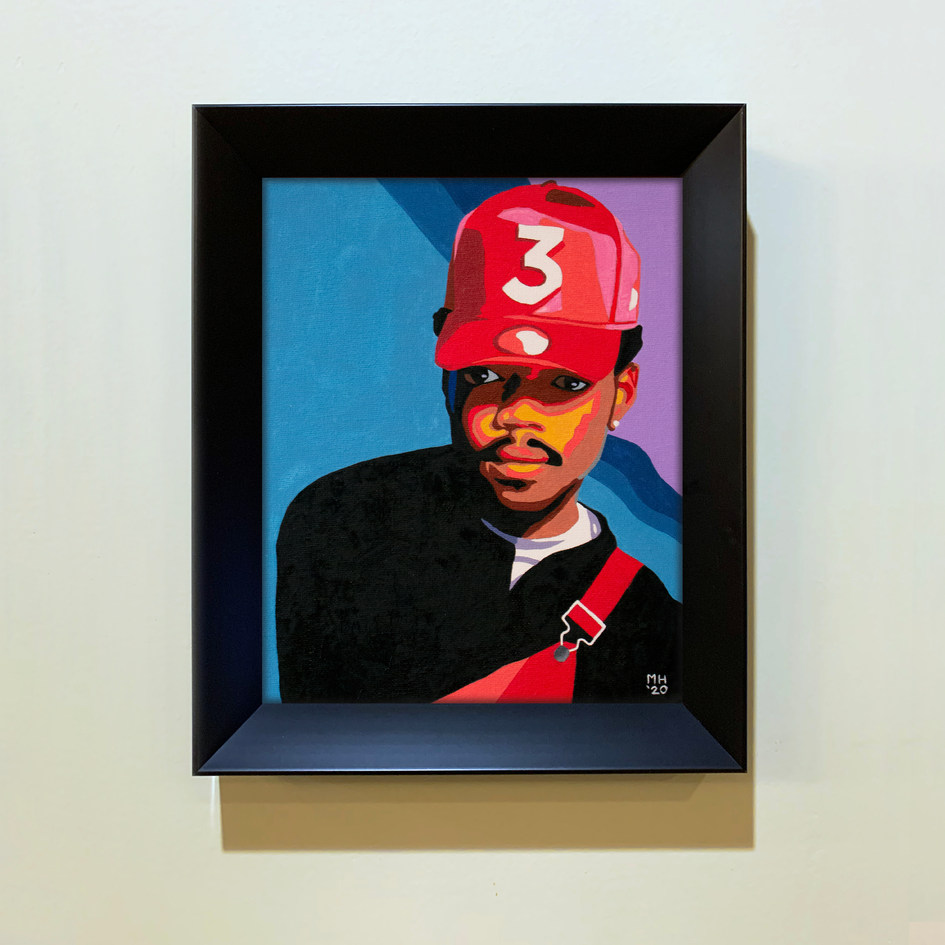Framed Chance The Rapper Portrait