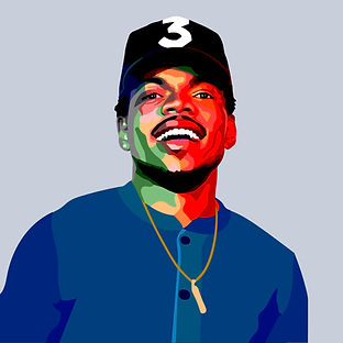 Chance The Rapper Vector Portrait