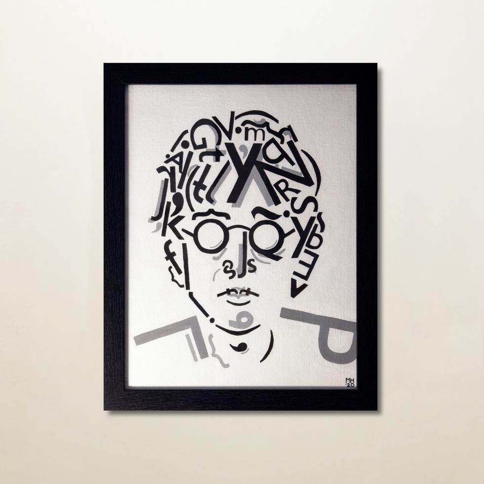 John Lennon Typographic Portrait