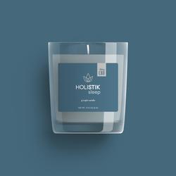 Holistik Wellness CBD Candle Packaging Design