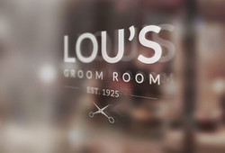 Lou's Groom Room Mock Brand Design