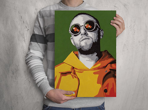 Mac Miller Pop Art Painting Poster Print