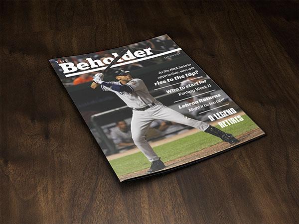 The Beholder Mock Sports Magazine