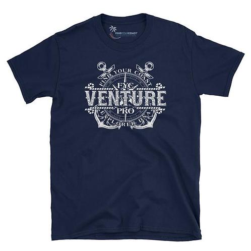 Men's Find Your Coast Venture Pro Navy Short Sleeve Tee