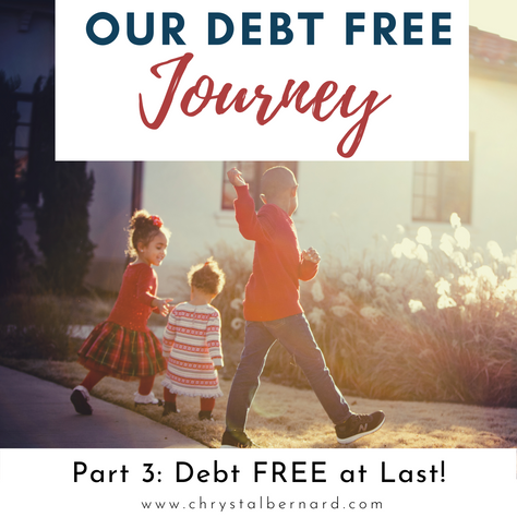 Our Debt Free Journey Part III: Debt FREE at Last!