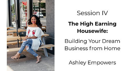 Ashley Brown The High Earning Housewife.