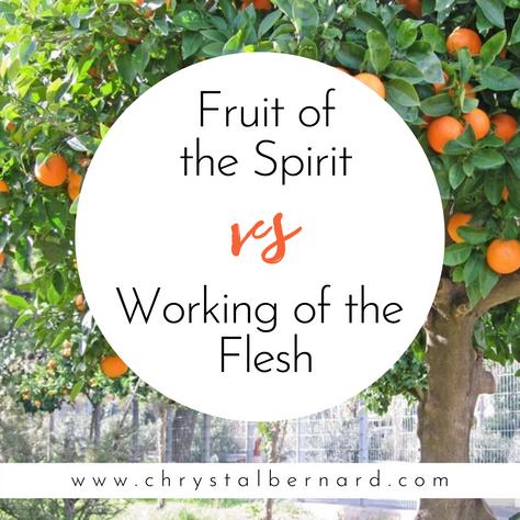 Fruit of the Spirit vs Working of The Flesh