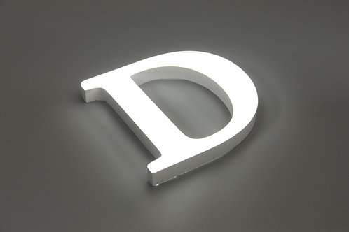Acrylic letter with transparent round corner