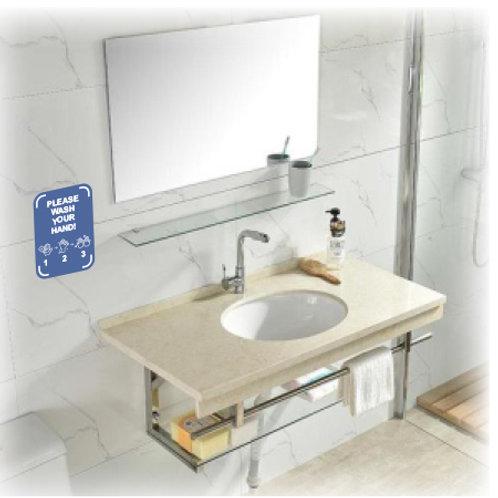 Wash handnotice decal / plate