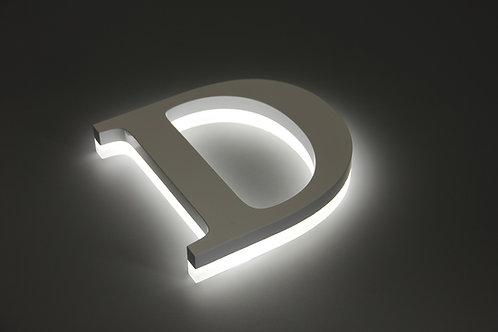 Acrylic halo lit sign letter,side lit letter