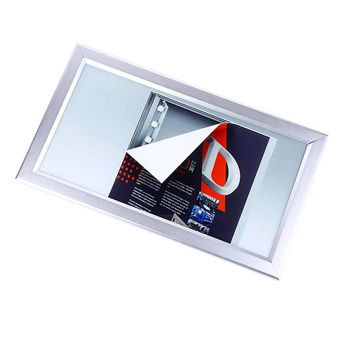 Fabric light box with frame