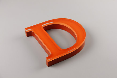 Acrylic letter with transparent square corner