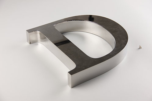 Fabricated metal channel letter,mirror stainless steel letter