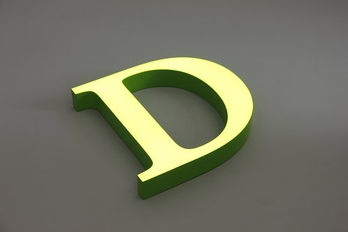 Waterproof Acrylic sign letter, face lit LED sign