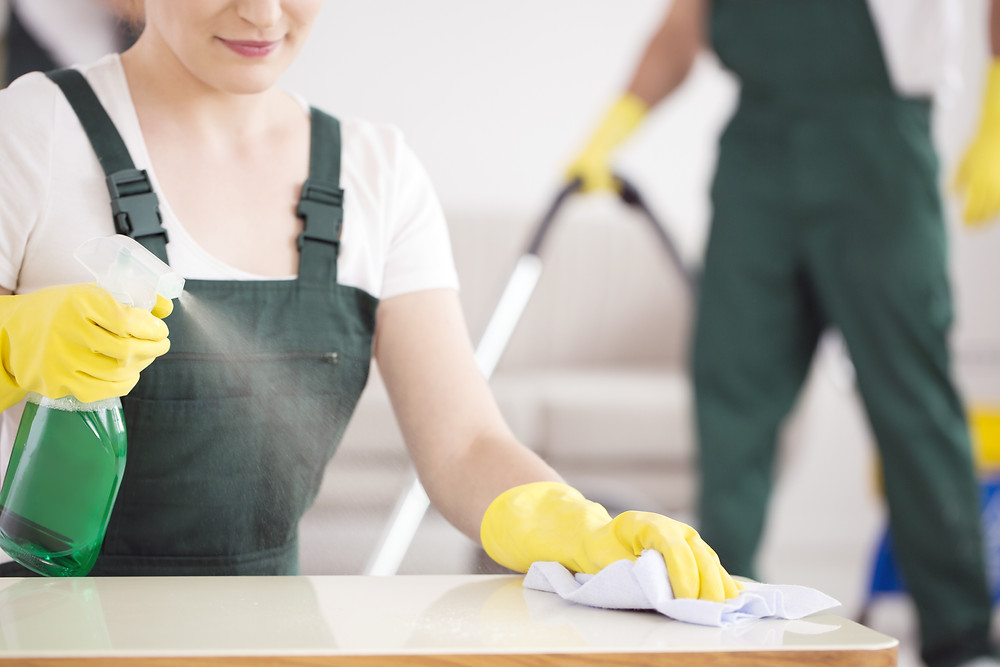 Green cleaning the home by cleaning professionals