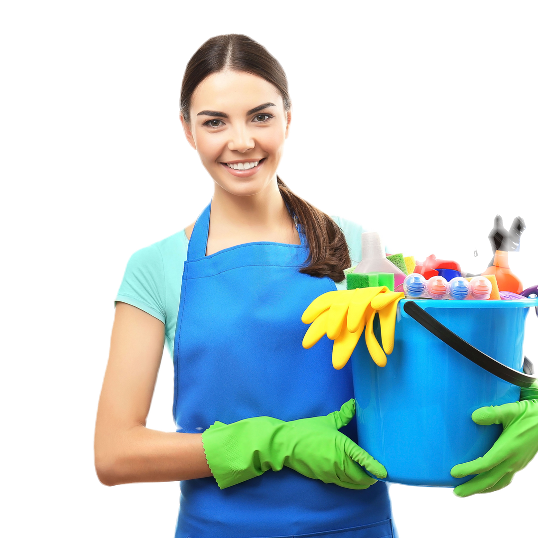 Regular Domestic Cleaning -Lady with buc