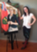 Daiene Vernile, MPP for Kitchener, ON - Oil Portrait Painting with Artist Nadine Manuel
