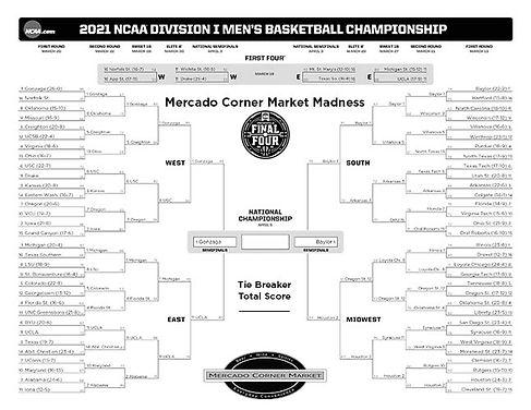 Mercado - NCAA Mens Bracket 2021 - Final