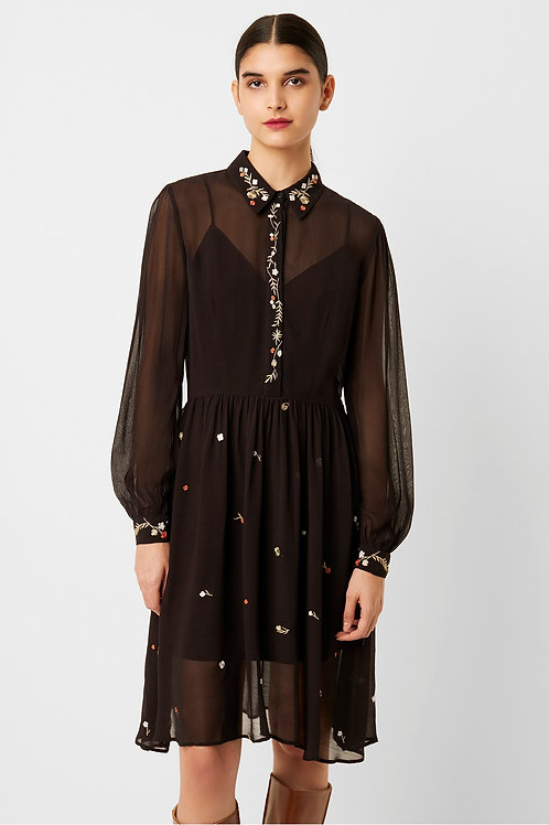 Danna Embroidered Shirt Dress