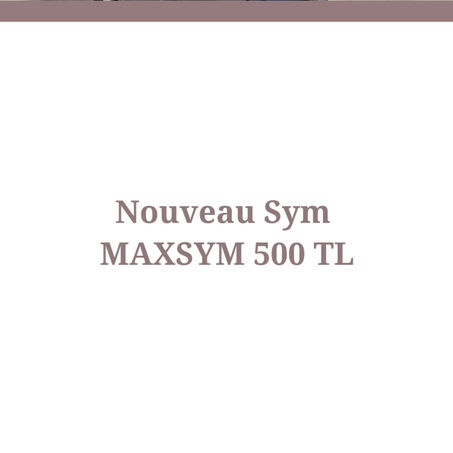 NOUVEAU MAXSYM 500 TL