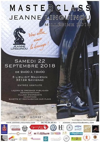 Masterclass Jeanne Linginou Millésime 2018