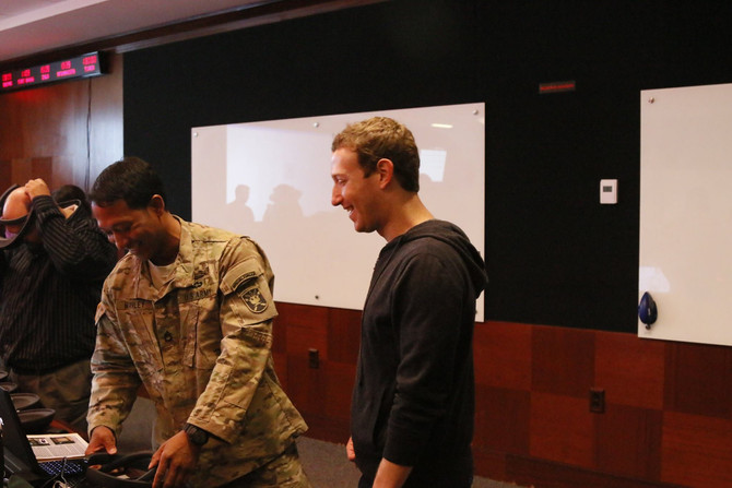 Meeting Facebook CEO Mark Zuckerburg