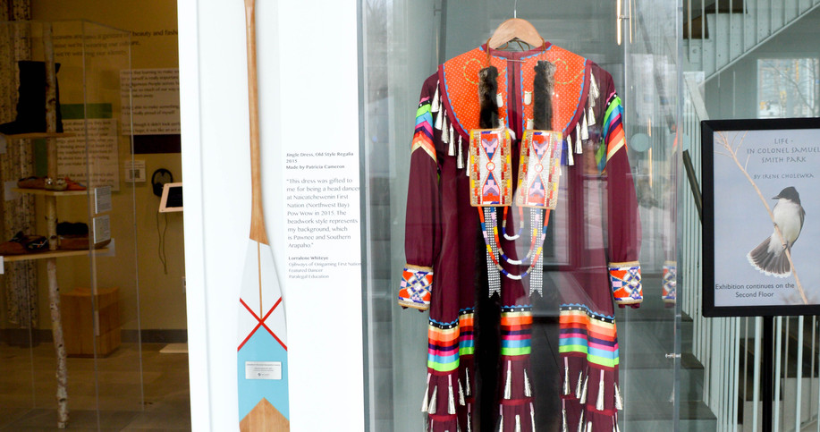 Moccasins Re-vamped exhibit from outside of Interpretive Centre