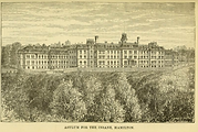 Lithograph of the Hamilton Asylum
