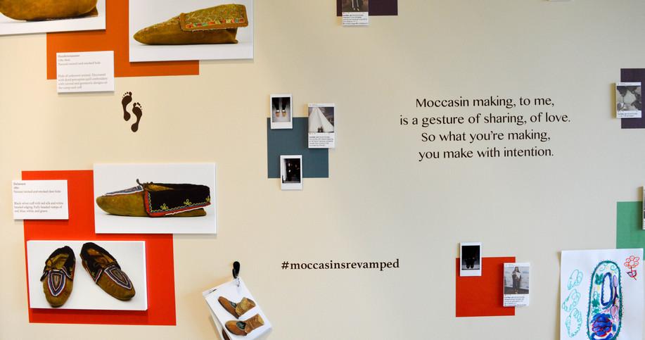 Moccasins Re-vamped exhibit